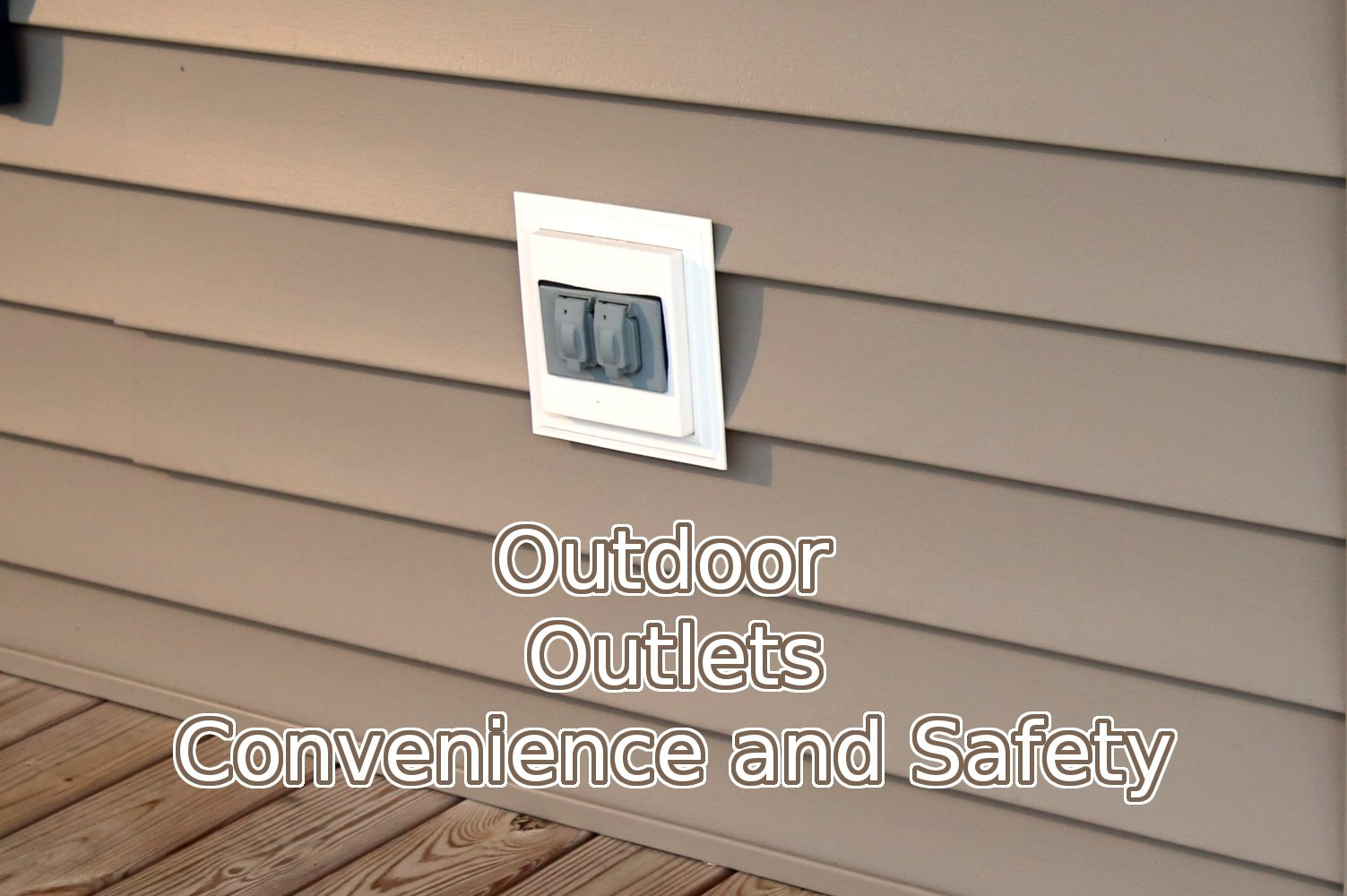 Electrician in Crofton outdoor outlet install